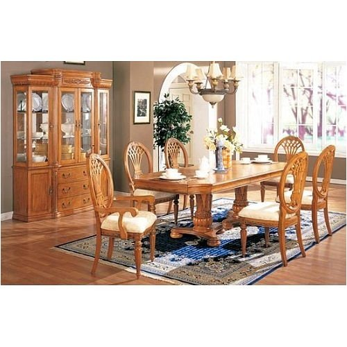 Cheap China Cabinet Buffet Hutch – Light Oak Finish (VF_F6082)