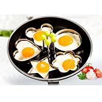 1 Pc Stainless Steel Egg Shaper Egg Mold Cooking Tools Pancake Molds Ring Heart Flower Kitchen Gadget (Cartoon)