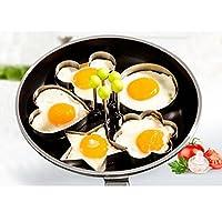 1 Pc Stainless Steel Egg Shaper Egg Mold Cooking Tools Pancake Molds Ring Heart Flower Kitchen Gadget (Cartoon)
