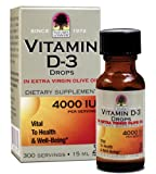 Nature's Answer Vitamin D-3 Drops 4000 IU, 0.5-Ounce