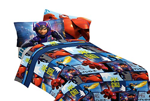 Disney Big Hero 6 Prodigy Microfiber Sheet Set, Full (Big Hero 6 Baymax Light compare prices)