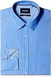 Blackberrys Men's Formal Shirt (8907196530620_MSDOC12CBEN14BPQ_42_Celestial Blue)