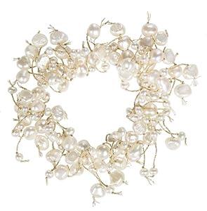 White Freshwater Cultured Pearl Elastic Bracelet