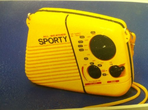 Sonnet All Weather Sports Yellow AM/FM Radio Water Resistant