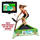 JumpSport iBounce Kids Trampoline, Tablet Mount and DVD