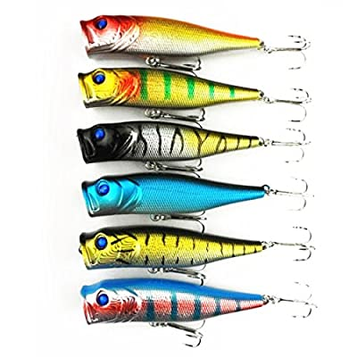 Vollter 6-Color Top Plastic Bass Fishing Lure Bait Water Tackle Hook 9Cm 14G by Vollter