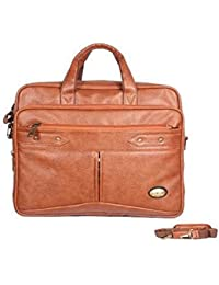 Handcuffs Expandable Office Bag For Men's 16' Inch Laptop Bag Rust Color Leather Bag