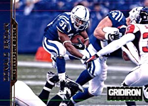 2012 Panini Gridiron Gear Football Card # 83 Donald Brown RB - Indianapolis Colts