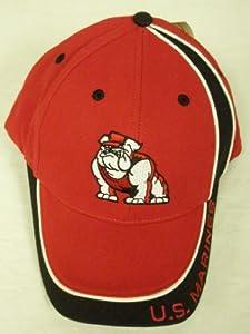 U.S. Marines Bulldog Hat (Black/Red) US Oarsman Military Cap w/tags
