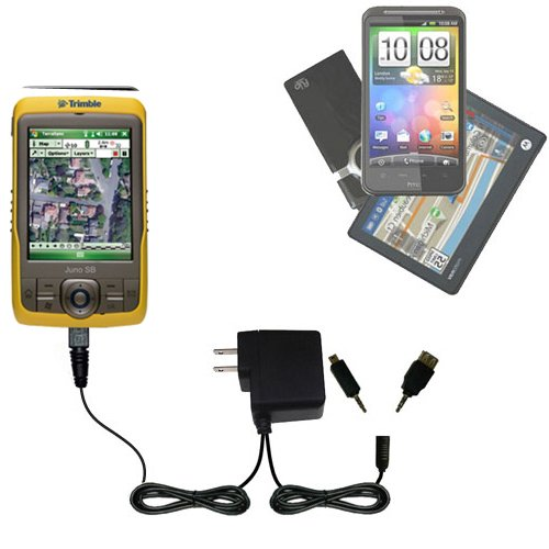 Double Wall Home Charger with tips including compatible with the Trimble Juno SB