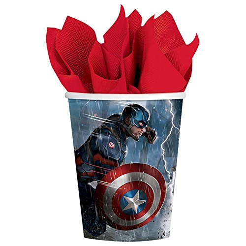 Captain America 'Civil War' 9oz Paper Cups (8ct)
