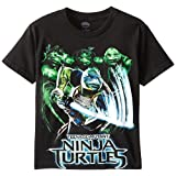 Teenage Mutant Ninja Turtles Big Boys' Group Action Tee Shirt, Black, Large/  14/16
