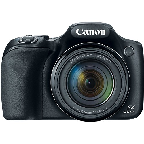 Canon PowerShot SX520 16Digital Camera with 42x Optical Image Stabilized Zoom with 3-Inch LCD (Black) (Canon Sx520 Hs Powershot compare prices)