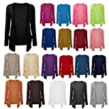 NEW LADIES WOMEN BOYFRIEND OPEN CARDIGAN WITHC POCKETS ALL COLORS & SIZES