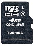 TOSHIBA microSDHCメモリカード 4GB SD-MD004GA