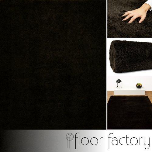 Weicher Hochflor Shaggy Teppich Privilege braun 10x10 cm Muster - Mikrofaser Langflorteppich - Home Edition