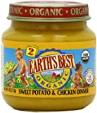 Earth's Best Organic Baby Food, Sweet Potato & Chicken Dinner, 4 Ounce (Pack of 12)