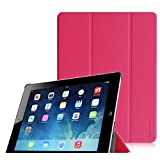 Fintie iPad 2 / 第3世代 iPad / 第4世代 iPad 専用 保護ケース 三つ折スタンドタイプ 高級PUレザー 超薄型 最軽量 オートスリープ機能付き スマートケース カバー (マゼンタ)