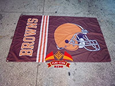 Browns flag NFL Cleveland Browns flag Cleveland Browns Rugby banner Cleveland Browns football banner--polyster flags,Brass Grommets ,Anti-UV,Digital Printing--NFL flags 3 X 5 Ft