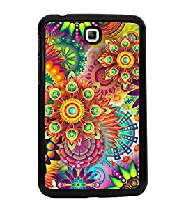 Bright Colourful Pattern 2D Hard Polycarbonate Designer Back Case Cover for Samsung Galaxy Tab 3 :: Samsung Galaxy Tab 2 P3200