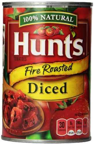 Hunt's Fire Roasted Diced Tomatoes, 14.5-Ounce (Pack of 12)