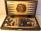 ChessEbook Schachspiel + Dame + Backgammon aus Holz 27 x 27 cm hergestellt von ChessEbook