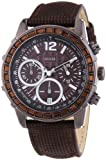 Guess Brown Leather Strap Chronograph Watch W0017L4