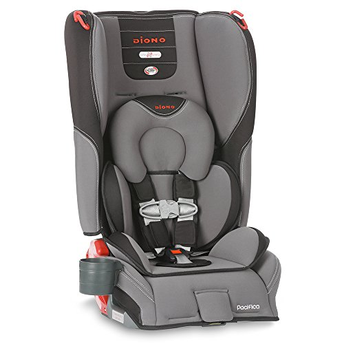Diono Pacifica Convertible Plus Booster Seat with Body Pillow, Graphite - 1