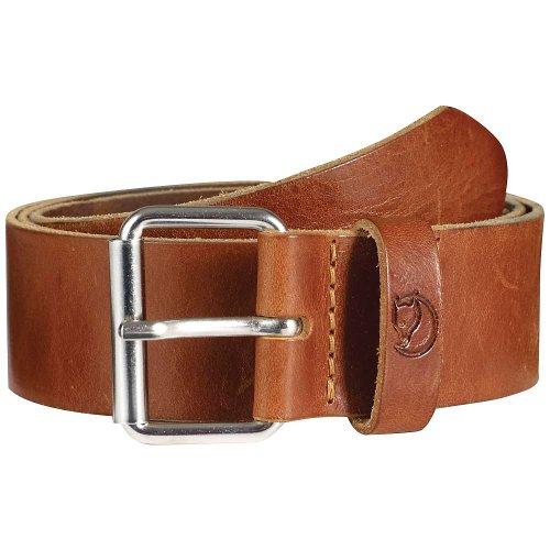 Fjallraven Sarek 4cm Belt, Leather Cognac, 110cm