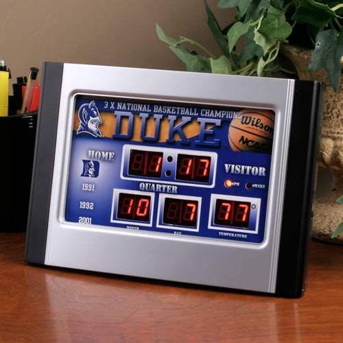 Duke Blue Devils Scoreboard Desk Clock