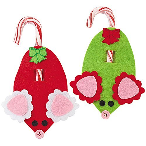 Mouse-Candy-Cane-Craft-Kit-Crafts-for-Kids-Decoration-Crafts-Includes-Candy-Canes