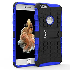 JD Dual Layer Hybrid Kickstand Protective Case for iPhone 6S Plus - Blue