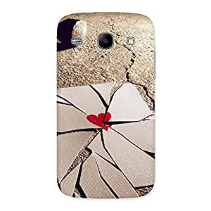 Delighted Broken Heart Ace Print Back Case Cover for Galaxy Core