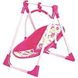 Adora 4-in-1 Playset Baby Carrier Seat Swing High Chair For Dolls Up To 20 Pink