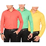 AEDI Men's Casual Shirts Combo (AEDICOMBO17B_Mix Colors_L)