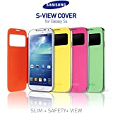 【Samsung純正】【S-VIEW COVER】Galaxy S4(SC-04E)専用 -7色- docomo Galaxy S4 LTE専用 NEW FLIP CASE フリップ カバー (Black)