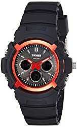 Skmei Analog Red Dial Mens Watch - 1149BBR