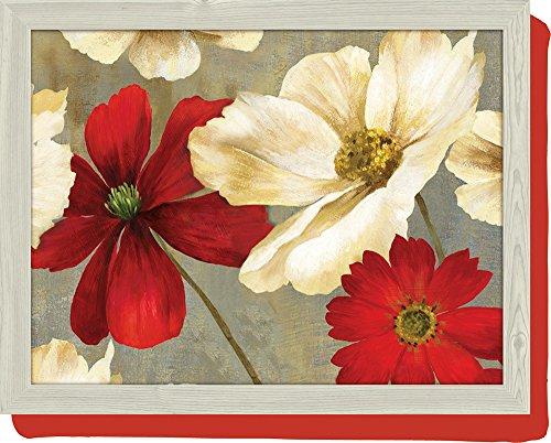 """Tablett/Laptop-Ablage mit Kissen, Design """"Flower Stucy"""", mehrfarbig"""