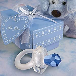 Choice Crystal Blue Pacifier Favors, 120