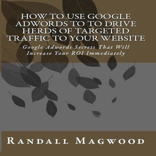 How To Use Google Adwords To To Drive Herds Of Targeted Traffic To Your Website: Google Adwords Secrets That Will Increase Your ROI Immediately - AUDIOBOOK