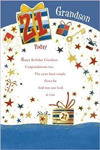 Grandson 21st Birthday Card Amazon Co Uk Kitchen Amp Home