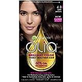 Garnier Olia Hair Color, 4.0 Dark Brown, Ammonia Free Permanent Brown Hair Dye (Packaging May Vary) (Color: 4.0 Dark Brown, Tamaño: 1 Count)