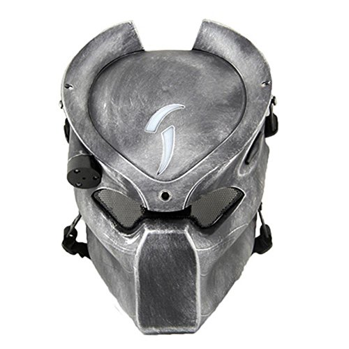 Tactical Mask, Haip® Predator Mask Full Face for CS Masquerade Halloween Party w/ Infra-red Light
