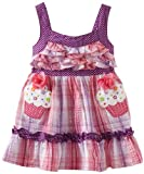 Youngland Baby-Girls Infant Sleeveless Ruffle Bodice Seersucker With Cupcake Applique