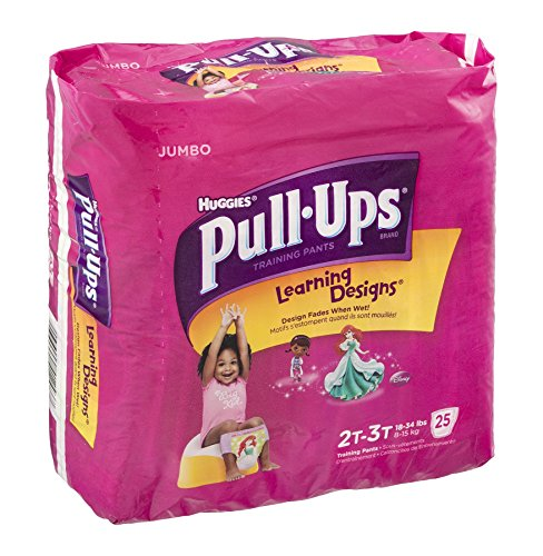 Huggies Pull-Ups Learning Designs Training Pants Disney 2T-3T 25 CT (Pack of 4)