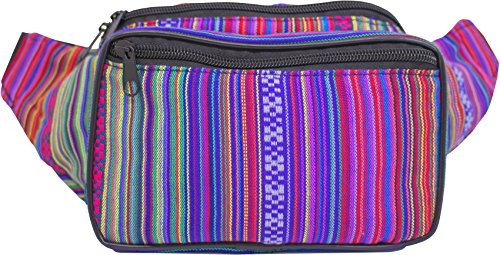 SoJourner Bags Bohemian Hippie Woven, Fabric Fanny Pack (Rose) (Pattern Fanny Pack compare prices)