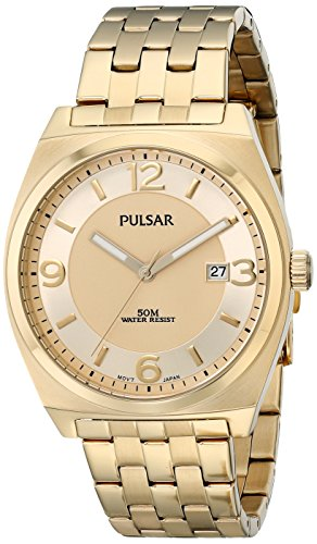 Pulsar Three-Hand Stainless Steel - Gold-Tone Men's watch #PS9282