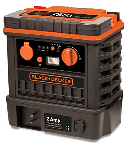 Black & Decker J752BCB 750 Peak Amp Jump Starter with Built-In 2 Amp Battery Maintainer (Peak Jump Starter 750 compare prices)