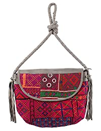 Jaipur Textile Hub Silk Shoulder Bag For Women (Multicolor) - B01AXPYF34