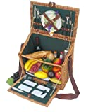 Hampshire Commons Picnic Basket in Hunter Green Lining
